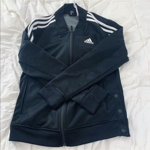 adidas Jackets & Coats - Adidas stripe track jacket outerwear black white
